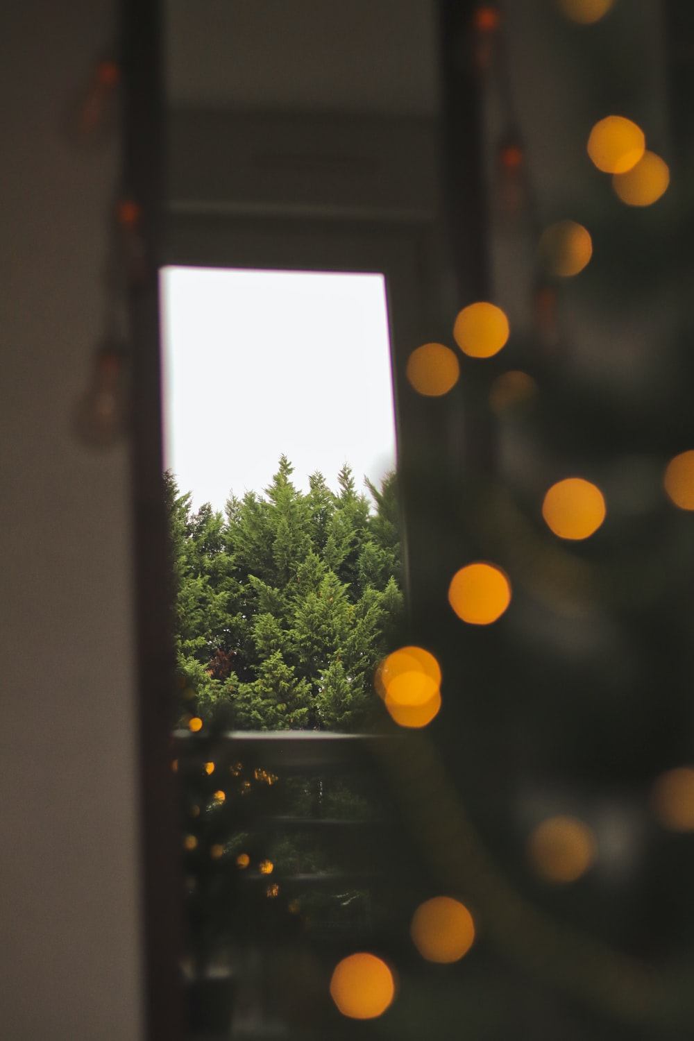 bokeh photography of opened window