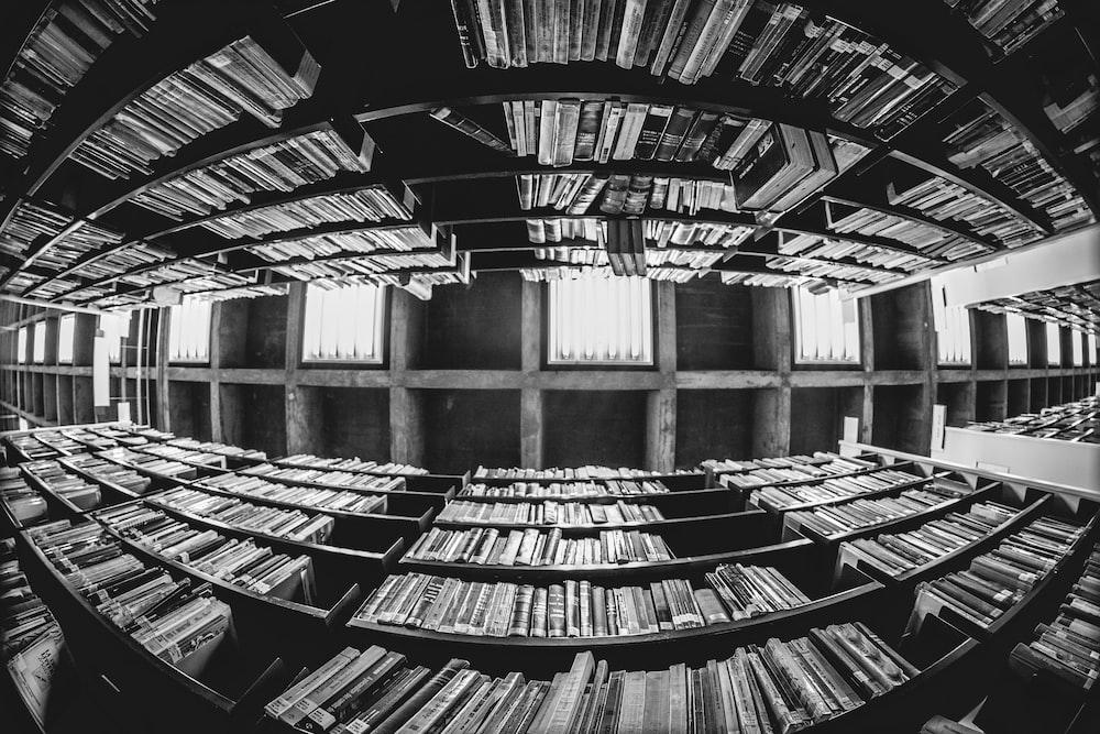 mirror image of bookcase