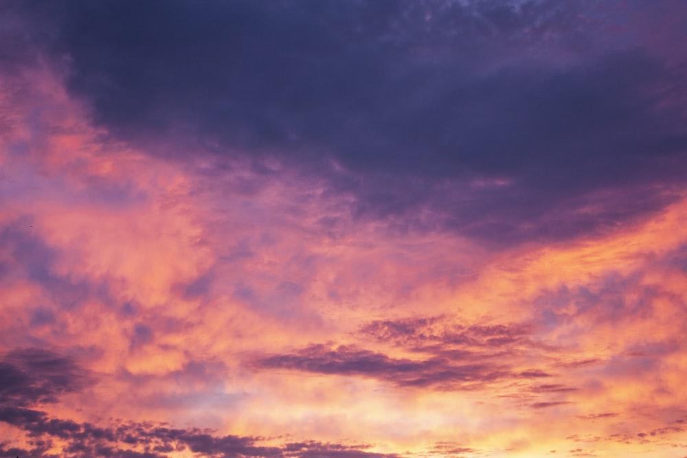 orange clouds photo