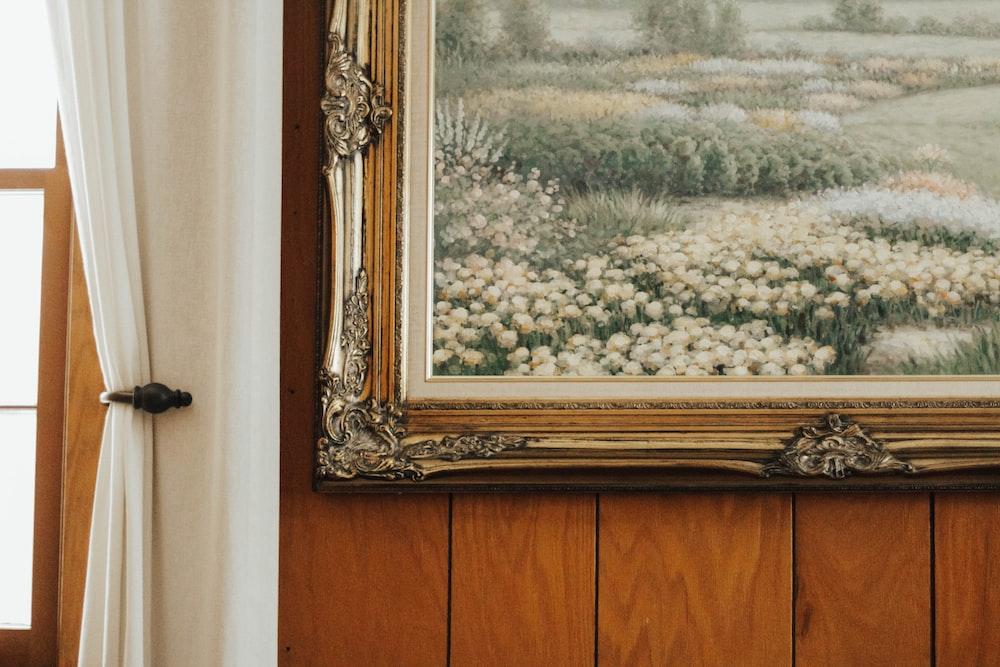 flowers in graden painting