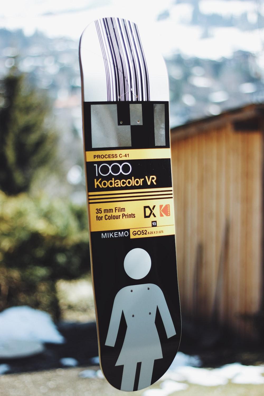 tilt shift lens photography of 1000 Kodacolor VR skateboard deck