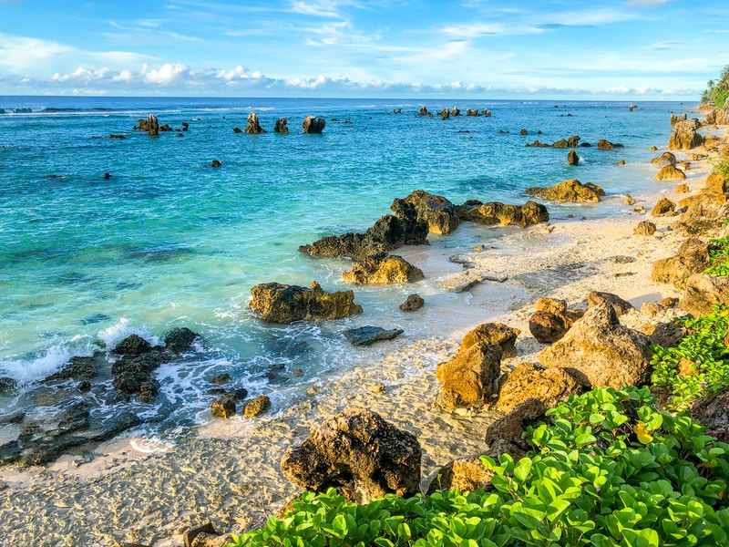Coldest places in Nauru by minimum mean temperature