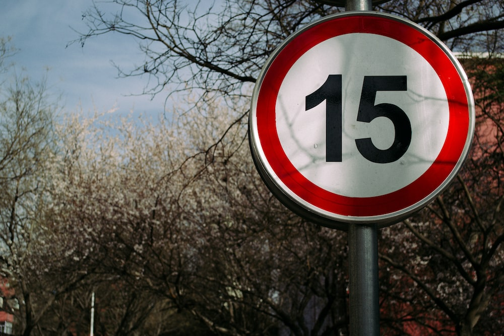 15 road sign