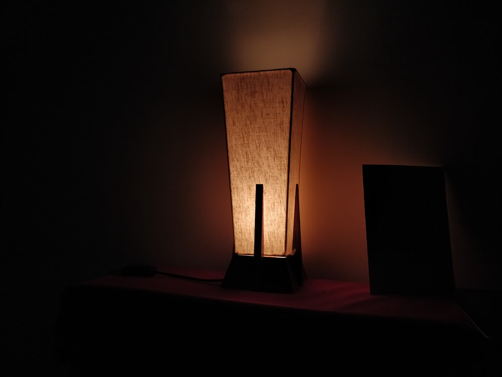 beige table lamp