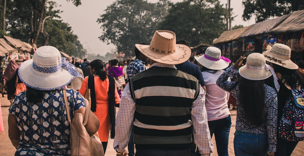 people wearing hat