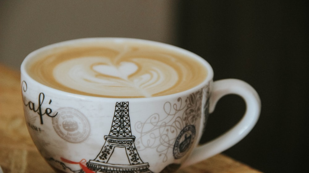 coffee latte with art