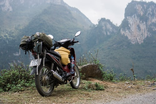 relax on a motorcycle by enjoying the scenery