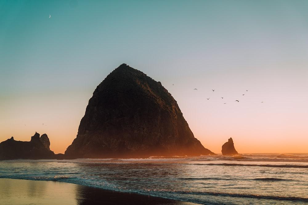 rock formation in ocean