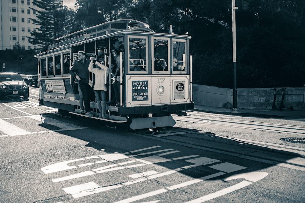 people inside the tram