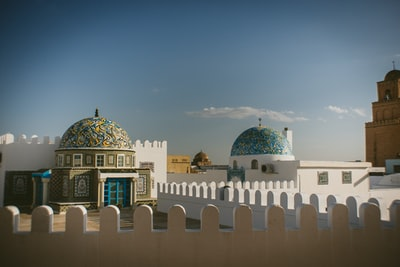 structural photo of dome buildings tunisia zoom background
