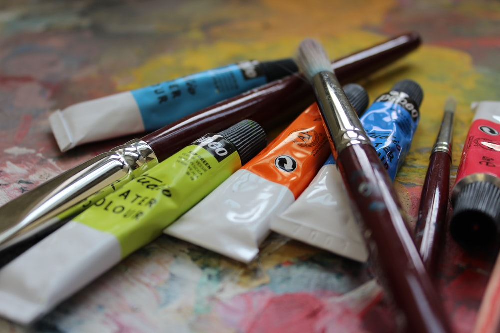 assorted-color soft-tube paints