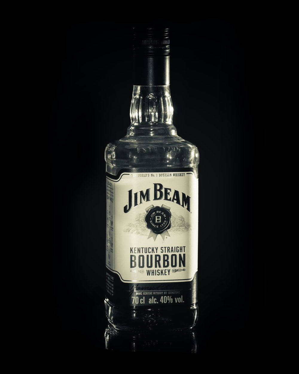Jim Beam Bourbon bottle