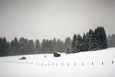 Hiking in bad weather conditions through the bavarian alps