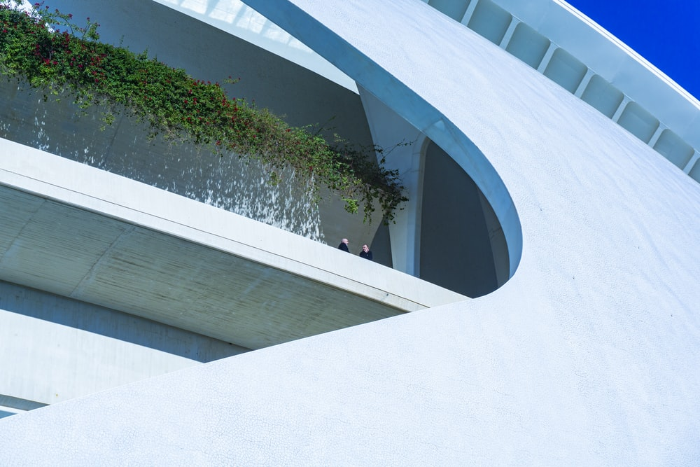 high-angle photography of white rooftop