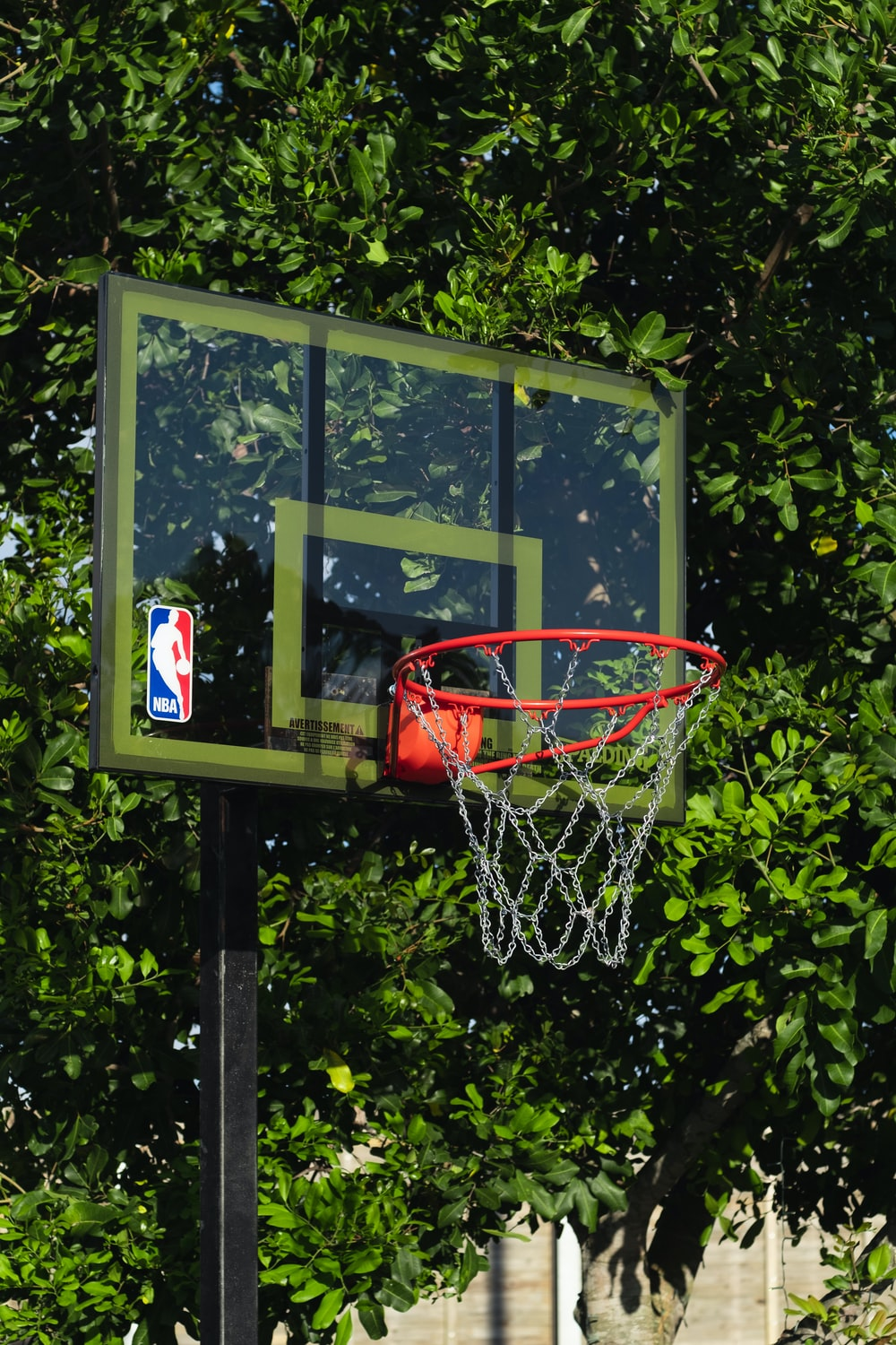 grey and red portable basketball hoop