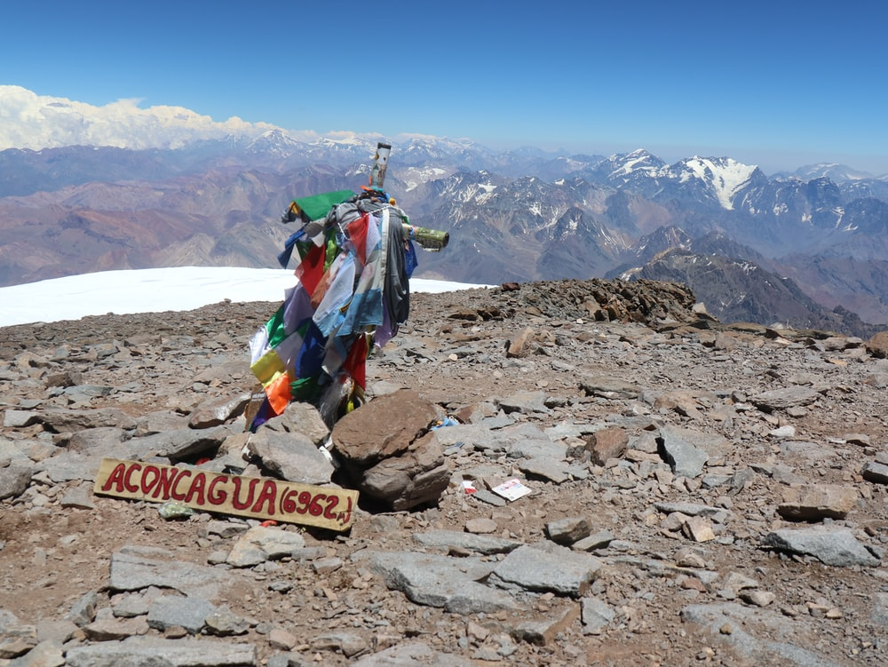 aconcagua decors on mountain