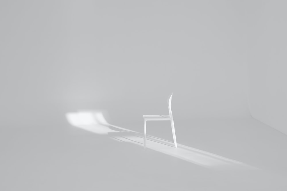 white chair on white surface