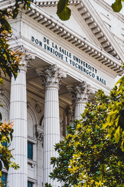 low-angle photography of De La Salle University building