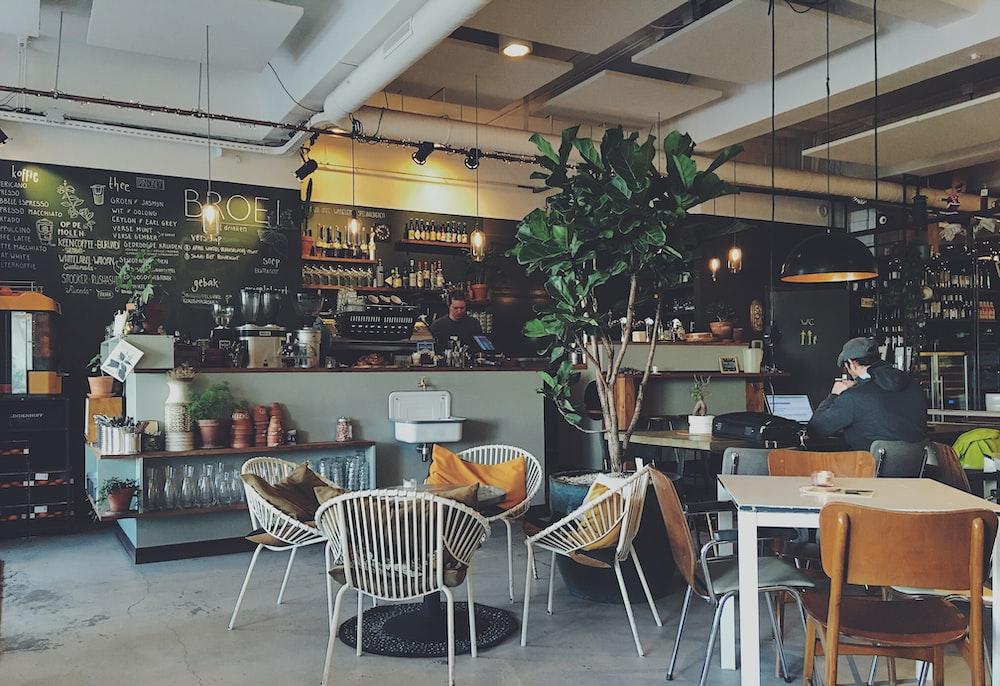 interior of a coffee shop