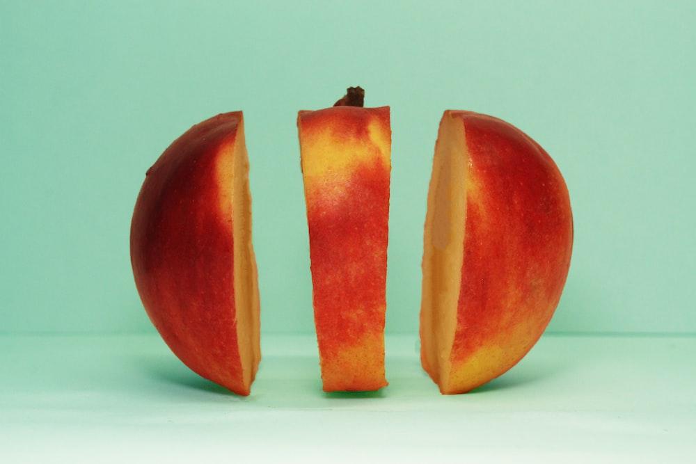 slice of red honeycrisp apple