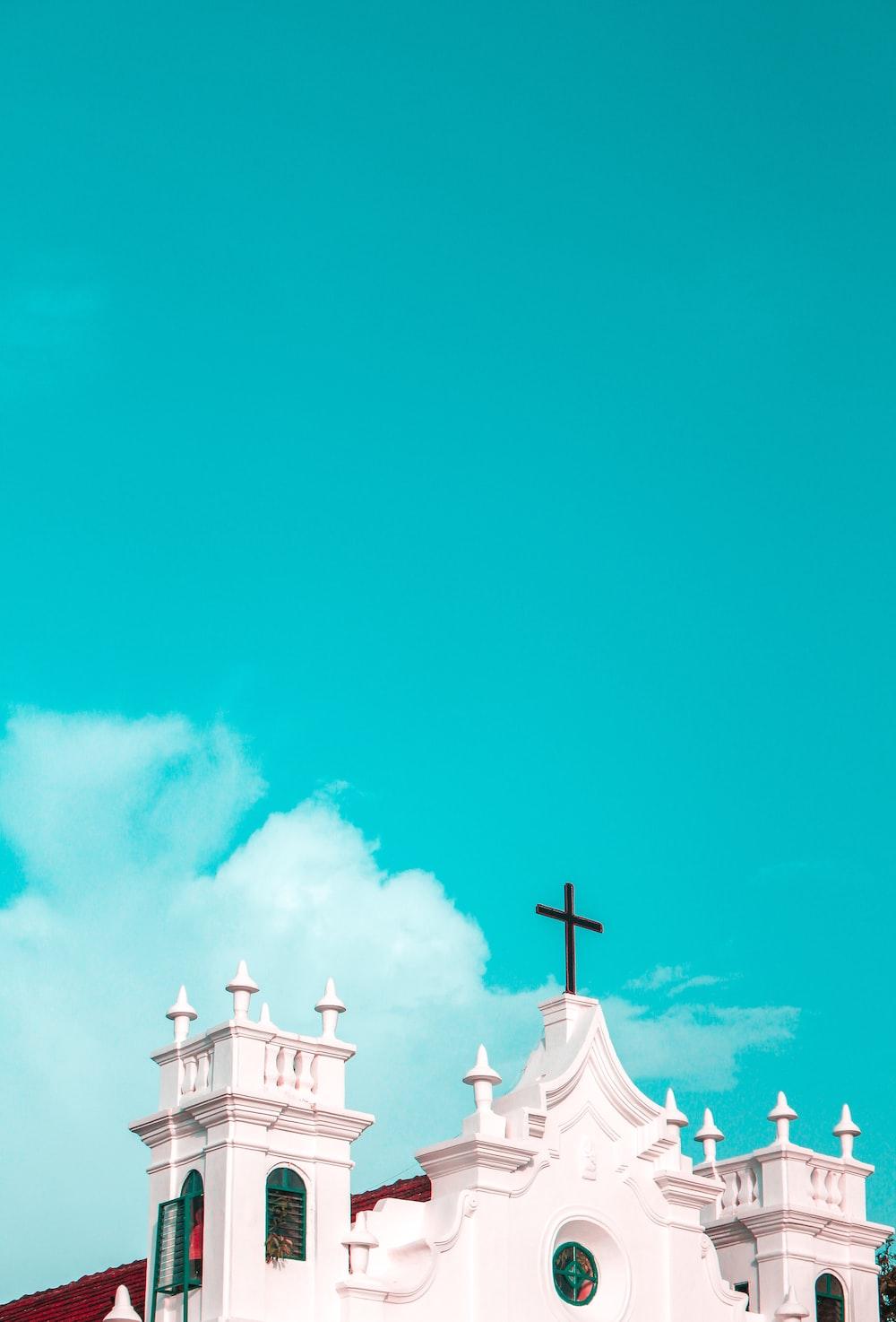 white red church