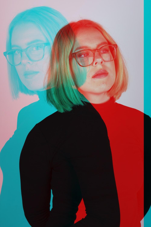 woman wearing eyeglasses standing