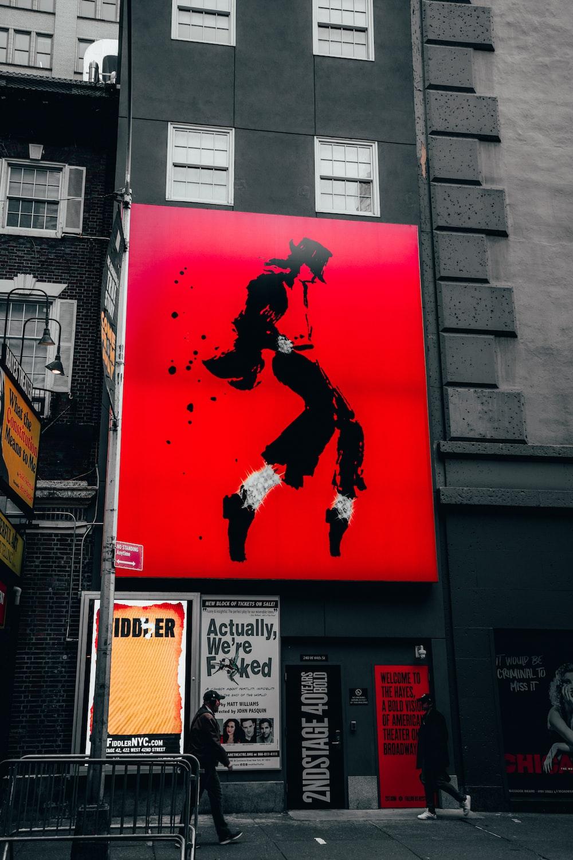 Michael Jackson portrait on building