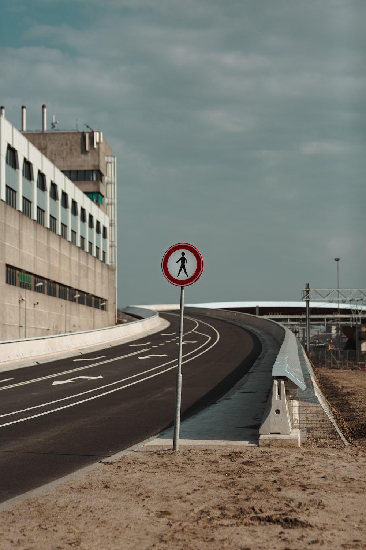 street signage near empty road