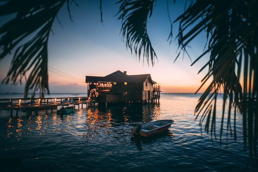 boat near house