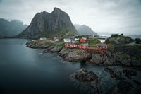 Famous view of the fisher village Hamnøya on the lofoten islands