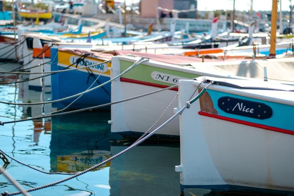 boats on dock during daytime