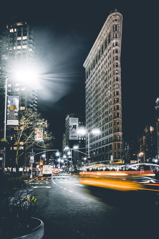 timelapse photography of car light