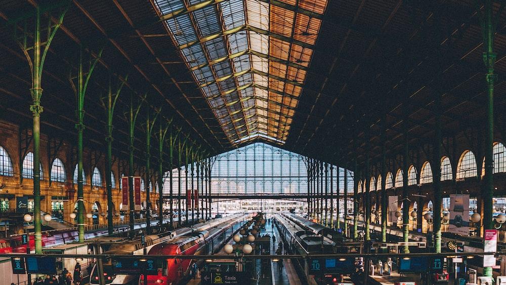 train station during daytime