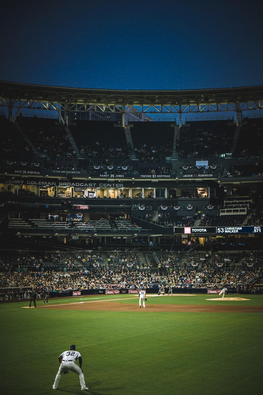 baseball group of people at stadium