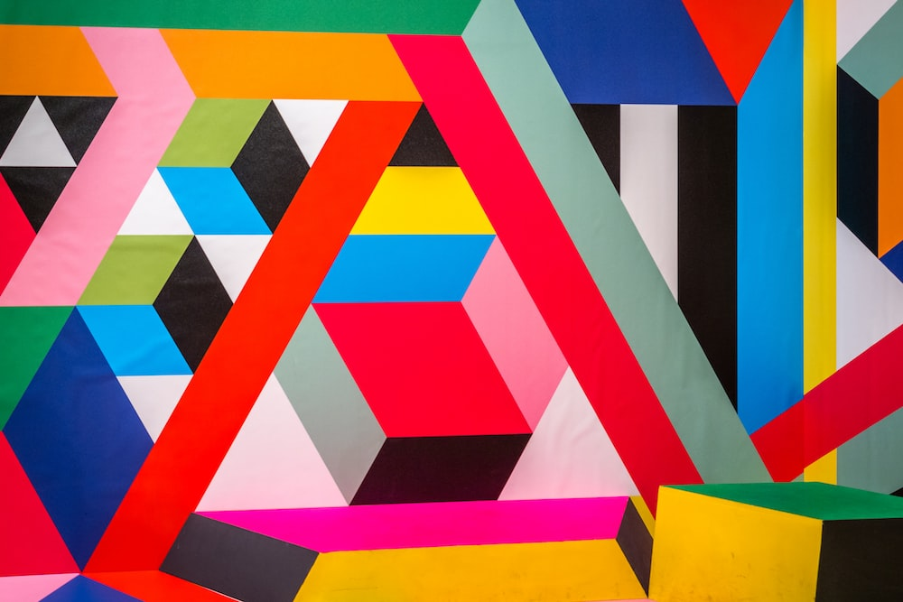 assorted-color wall art