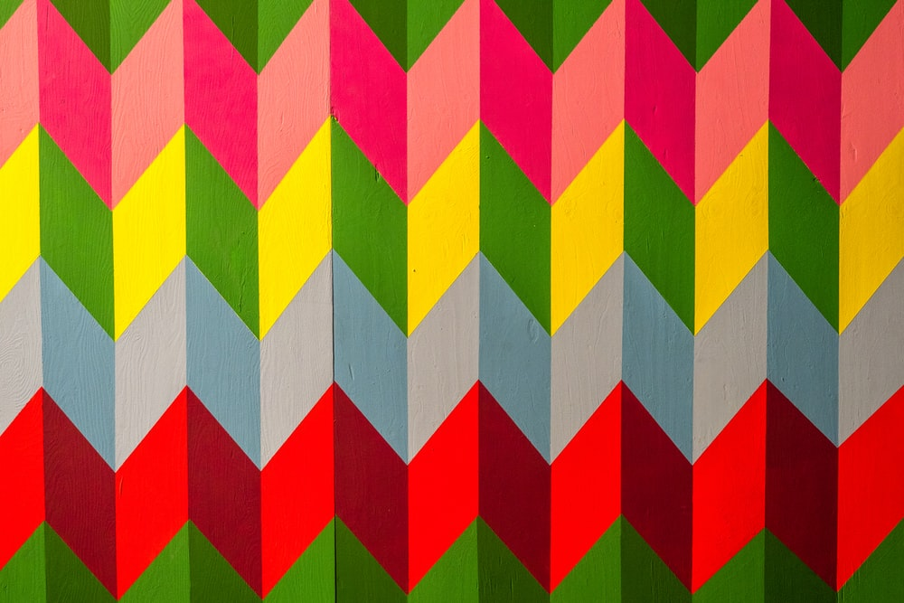multicolored chevron illustration