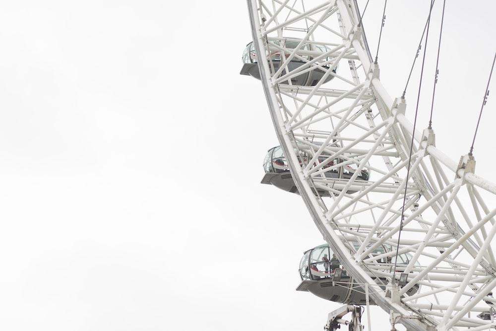 London Eye under white sky