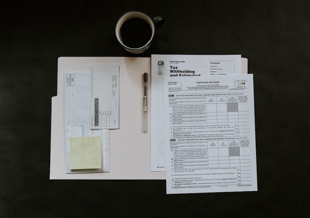 white printed paper