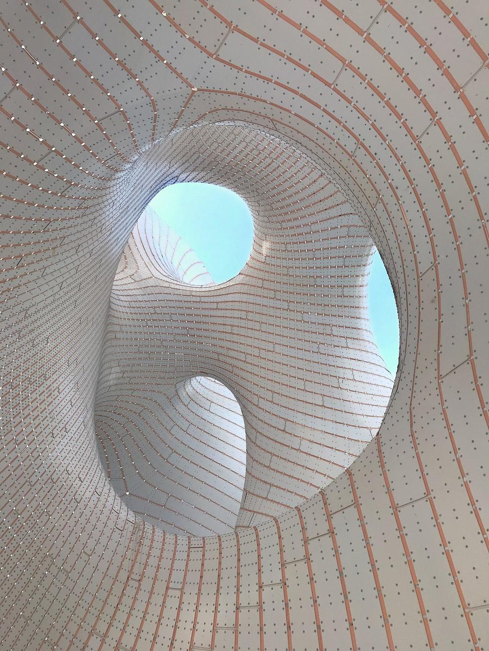 beige and orange spiral structure