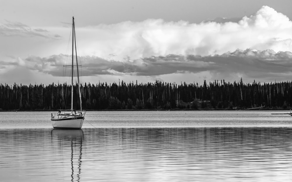 body of water and sailboat
