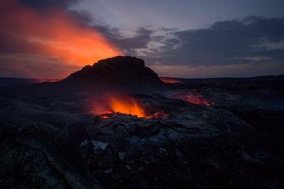 lav volcano teams background