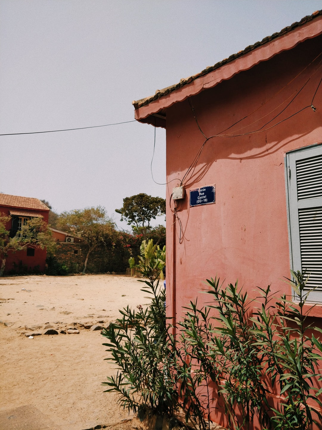 This remarkable painted house is only one of the little gems of Île de Gorée, Dakar, Senegal.
