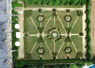 aerial photography of grey concrete castle