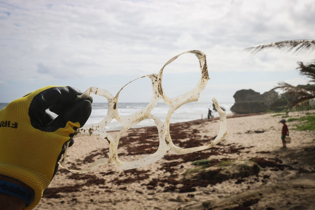 From a beach cleanup in Bathsheba, Barbados. Just one of the many plastic items we found washed up along the coast here. These plastic six-pack rings pose a serious threat to life in the ocean - who can become entangled in the plastic. Follow on Instagram @wildlife_by_yuri