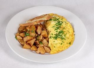 plate of omelette