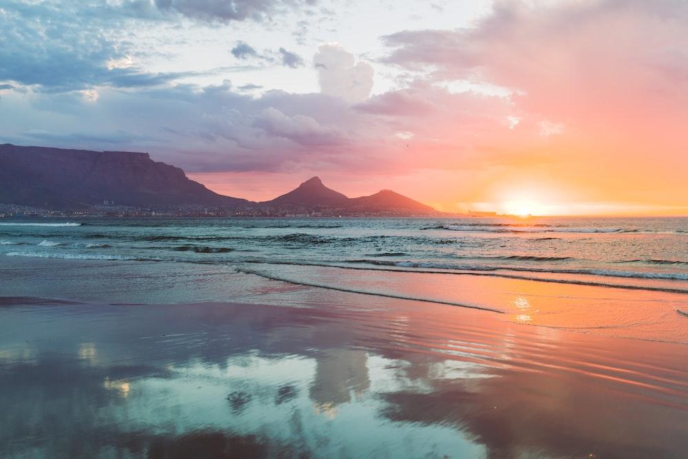 calm body of water in beach