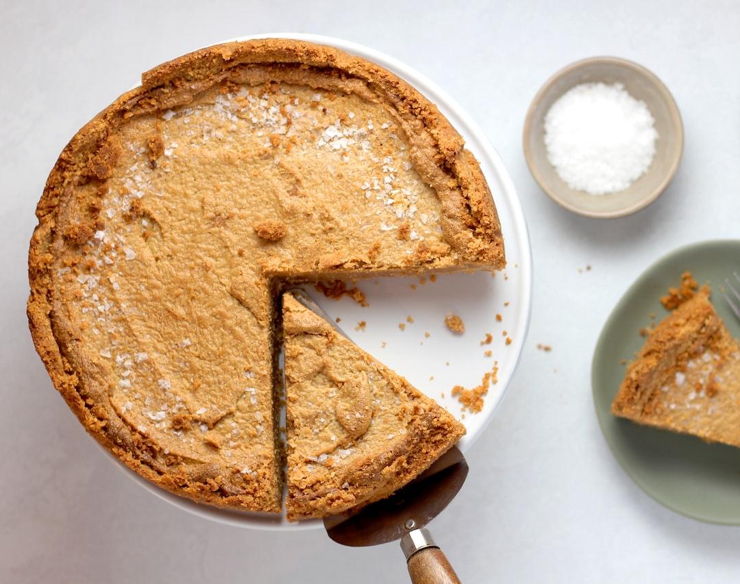 Peanut butter pie with a Ritz cracker crust.