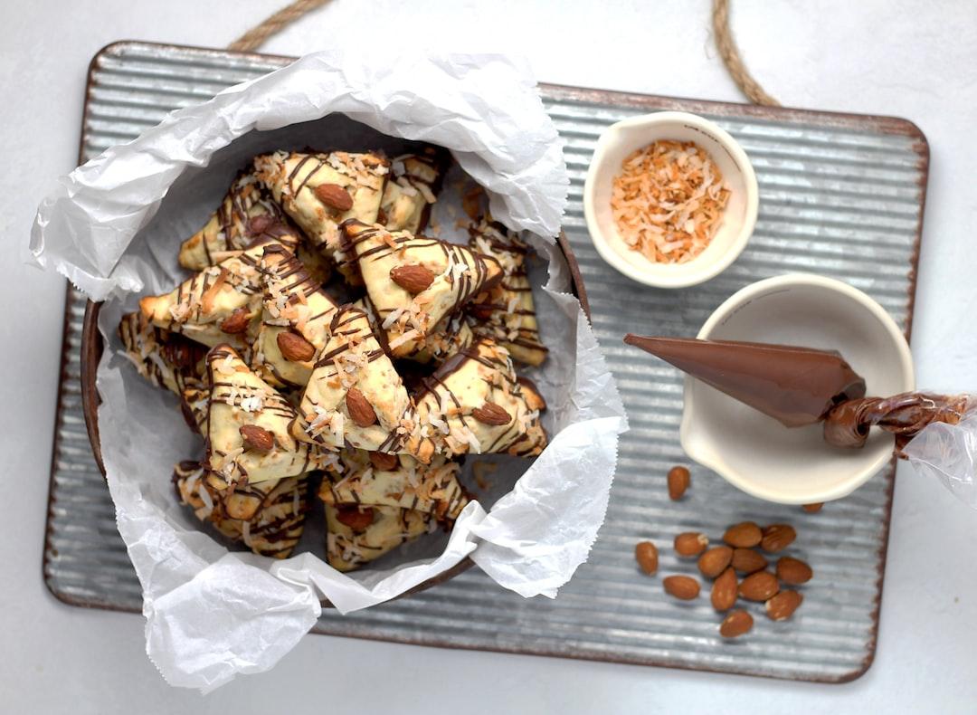 Almond Joys get a twist in this classic Purim dessert - hamantaschen!