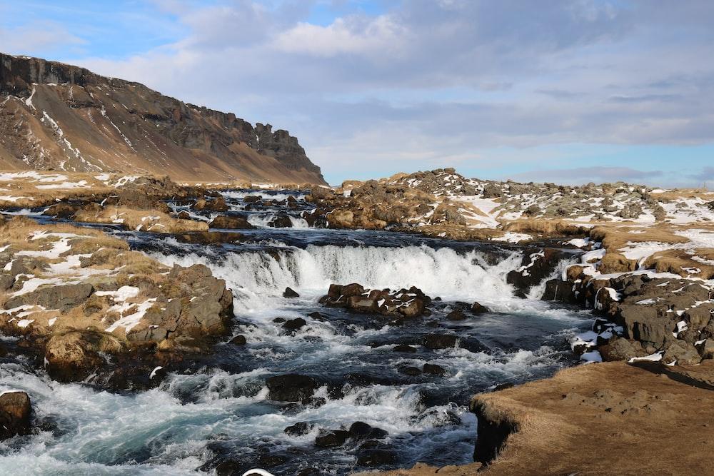 view of waterfalls