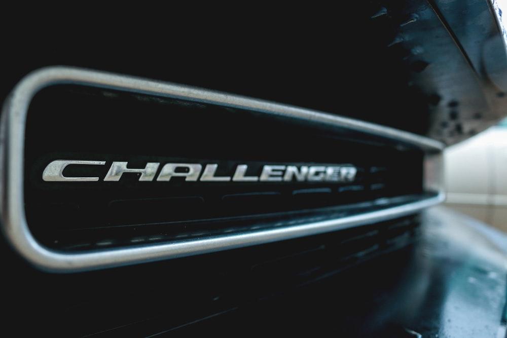 black Dodge Challenger vehicle